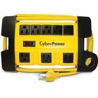 CyberPower DS806MYL Power Strip - NEMA 5-15P - 8 x NEMA 5-15R - 6 ft Cord - 125 V AC Voltage - Yellow