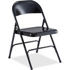 "Lorell Folding Chairs - 4/CT - Powder Coated Steel Frame - Black - 19.4"" Width x 18.3"" Depth x 29.6"" Height - 4 / Carton"