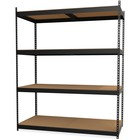 "Lorell Archival Shelving - 80 x Box - 4 Compartment(s) - 84"" Height x 69"" Width x 33"" Depth - Recycled - Black - Steel, Particleboard - 1Each"