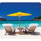 """Fellowes Recycled Mouse Pad - Caribbean Beach - Caribbean Beach - 8"""" (203.20 mm) x 9"""" (228.60 mm) x 60 mil (1.52 mm) Dimension - Multicolor - Rubber Base - Slip Resistant, Scratch Resistant, Skid Proof"""