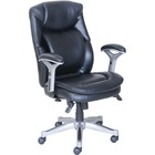 "Lorell Wellness by Design Executive Chair - Bonded Leather - 26.8"" Width x 30.5"" Depth x 44.3"" Height - 1 Each"
