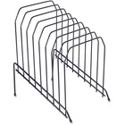 Lorell Wire File Sorter/Holder - 8 Divider(s) - Desktop - Black - Wire - 1Each