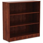"Lorell Cherry Laminate Bookcase - 36"" Height x 36"" Width x 12"" Depth - Cherry - Laminate - 1Each"
