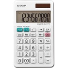 "Sharp Calculators EL-377WB 10-Digit Professional Handheld Calculator - Sign Change, Auto Power Off - 10 Digits - LCD - 0.3"" x 2.8"" x 4.8"" - White - Handheld - 1 Each"