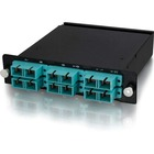 C2G 12-Strand MTP/MPO-SC Laser Optimized Multimode 50/125 Module - Method B - 12 Port(s) - 12 x - 1 x MT Port(s) - Wall Mountable