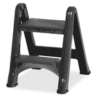 "Rubbermaid E-Z Step Foldable Step Stool - 21"" (533.40 mm) x 22.88"" (581.03 mm) x 18.88"" (479.43 mm) - Dark Gray"
