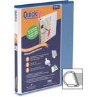 "QuickFit QuickFit Angle D-ring View Binder - 5/8"" Binder Capacity - D-Ring Fastener(s) - Internal Pocket(s) - Blue - Spine Label, Ink-transfer Resistant"