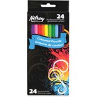 Hilroy Colored Pencil - Assorted Lead - Assorted Wood Barrel - 24 / Pack