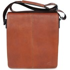 """MANCINI COLOMBIAN Carrying Case (Messenger) Tablet - Cognac - Colombian Leather - Shoulder Strap - 10.25"""" (260.35 mm) Height x 12"""" (304.80 mm) Width x 3"""" (76.20 mm) Depth"""