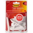 "Command Medium Hooks Value Pack, 17001C-VP - 6 Medium Hook - 1.36 kg Capacity - 0.94"" (23.88 mm) Length - for Paint, Wood, Tile, Indoor, General Purpose - Plastic - White - 6 / Pack"