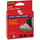 "Scotch Double-sided Tape - 14 yd (12.8 m) Length x 1.50"" (38.1 mm) Width - Vinyl Backing - Double-sided, Heavy Duty - 1 Roll"