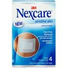 Nexcare Sensitive Skin Adhesive Pads - 4/Pack - Blue