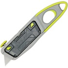 Clauss Crossfire Utility Knife - Steel Blade - Retractable, Rotating Blade, Pull-out Handle - Plastic - 1 Each