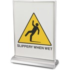 """Artistic LED Sign - 1 Each - 8.50"""" (215.90 mm) Width x 11"""" (279.40 mm) Height - Lightweight, Portable - Plastic - Clear, Silver"""