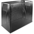 "Artistic Urban Collection Punched Metal Desktop File, Black - 4 Compartment(s) - 10.8"" Height x 13"" Width x 5.8"" Depth - Desktop - Black - Steel - 1Each"
