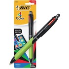 BIC 4 Colours Stylus - 1 mm Pen Point Size - Yes - Blue, Red, Green, Black - 1 Pack
