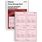 "Blueline Telephone Message Book - Spiral Bound - 2 PartCarbonless Copy - Letter - 8 1/2"" x 11"" Sheet Size - White - Pink Sheet(s) - White Cover - 1 Each"