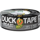 "Duck MAX Strength Duct Tape - 45 yd (41.1 m) Length x 1.88"" (47.8 mm) Width - Rubber Backing - 1 Each - Gray"
