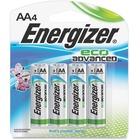 Energizer EcoAdvanced Battery - AA - Alkaline - 4 Pack