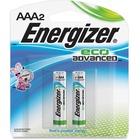Energizer EcoAdvanced Battery - For Multipurpose - AAA - Alkaline - 2