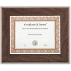 """nudell 8.5"""" x 11"""" Executive Series Document/Photo Frame, Mahogany/Silver Outer Border - 14.50"""" x 12"""" x 0.80"""" (20.32 mm) Frame Size - Holds 8.50"""" x 11"""" Insert - Rectangle - Desktop, Tabletop - Easel Back - 1 Each - Glass - Mahogany, Silver"""