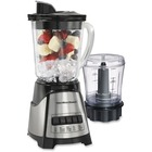 Hamilton Beach Blender/Chopper (58149C) - 700 W - 1.18 L - 2 Speed Setting(s) - 3 Cup - Stainless Steel, Glass