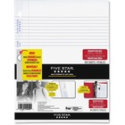 "Five Star Reinforced Paper - 100 Sheets - 3-ring Binding - College Ruled - 20 lb Basis Weight - 8 1/2"" x 11"" - White Paper - 100 / Pack"