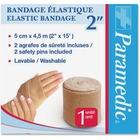 "Paramedic Elastic Bandage 2'' - 2"" (50.80 mm) x 14.76 ft (4500 mm) - 6 Per Box - Fabric"