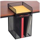 "Safco Onyx Vertical Hanging Storage - 17.1"" Height x 10.3"" Width x 12"" Depth - Black - Steel - 1Each"