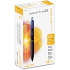 Uni-Ball Gel RT Gel Pen - 0.5 mm Pen Point Size - Retractable - Blue Pigment-based Ink - Stainless Steel Tip - 1 Each