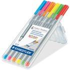 Staedtler Fineliner Porous Point Pen - Fine Pen Point - Triangular Pen Point Style - Neon Pink, Neon Blue, Neon Orange, Neon Red, Neon Yellow, Neon Green - 1 Set