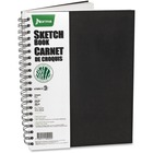 """VLB Academico Collection - Sketchbook - 100 Sheets - 8 1/2"""" x 11"""" - Black Cover - 1Each"""