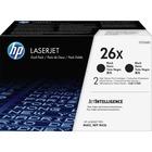 HP 26X (CF226XD) Toner Cartridge - Black - Laser - High Yield - 9000 Pages - 2 / Box