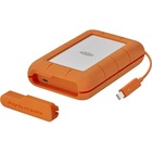 LaCie STFS2000800 2 TB Portable Hard Drive - External - Thunderbolt, USB Type C - 256-bit Encryption Standard - 3 Year Warranty