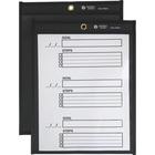 """Business Source Black Backing Shop Ticket Holder - Support 8.50"""" (215.90 mm) x 11"""" (279.40 mm) Media - Vinyl, Metal - 25 / Box - Black"""