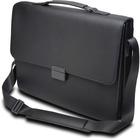 "Kensington Carrying Case (Briefcase) for 15.6"" Notebook - Black - Damage Resistant, Drop Resistant - Faux Leather - Handle, Shoulder Strap"