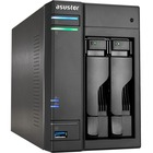 "ASUSTOR AS6302T SAN/NAS Storage System - Intel Celeron J3355 Dual-core (2 Core) 2 GHz - 2 x HDD Supported - 20 TB Supported HDD Capacity - 2 GB RAM DDR3L SDRAM - Serial ATA/600 Controller - RAID Supported 0, 1, JBOD - 2 x Total Bays - 2 x 2.5""/3.5"" Bay -"