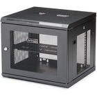 """StarTech.com 9U Wall Mount Server Rack Cabinet - 4-Post Adjustable Depth (2.4"""" to 18.9"""") Network Equipment Enclosure with Cable Management (RK920WALM) - Use this wall-mount network cabinet to mount your equipment to the wall - 9U wall mount server cabinet"""