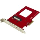 "StarTech.com U.2 to PCIe Adapter for 2.5"" U.2 NVMe SSD - SFF-8639 - x4 PCI Express 3.0"