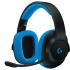 Logitech G233 Prodigy Wired Gaming Headset - Stereo - Mini-phone (3.5mm) - Wired - 32 Ohm - 20 Hz - 20 kHz - Over-the-head - Binaural - Circumaural - 6.6 ft Cable - Black, Cyan