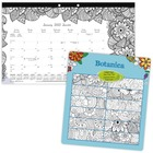 """Blueline Botanica Colouring Monthly Desk Pads - Monthly - January 2021 till December 2021 - 1 Month Single Page Layout - 8 1/2"""" x 11"""" Sheet Size - Reference Calendar - 1 Each"""