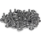 "StarTech.com PC Mounting Computer Screws M3 x 1/4in Long Standoff - 50 Pack - Computer Assembly Screw - 0.25"" - Pan, Hex - Philips - Silver - 50 Pack - TAA Compliant"
