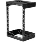 "StarTech.com 15U Open Frame Wall Mount Network Rack - 2-Post Adjustable Depth (12"" to 20"") Computer Equipment Rack - 198lbs capacity (RK15WALLOA) - Adjust equipment rack rails from 12"" to 20"" to accommodate equipment sizes - Open frame rack design promote"