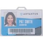 "Advantus Clear ID Card Holders - Support 3.38"" (85.73 mm) x 2.13"" (53.98 mm) Media - Horizontal - Plastic - 25 / Pack - Clear"