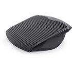 Lorell Ergonomic Rocking Footrest - Comfortable, Sturdy - Black