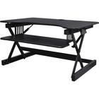 "Lorell Adjustable Desk Riser Plus - 18.14 kg Load Capacity - 32"" (812.80 mm) Width x 20.50"" (520.70 mm) Depth - Desktop - Black"