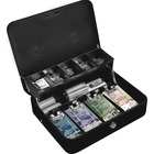 "Royal Sovereign CMCB-400 Tiered Deluxe Cash Box - 4 Bill - Steel - Gray - 4"" (101.60 mm) Height x 11.80"" (299.72 mm) Width x 10"" (254 mm) Depth"