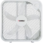 """Lorell 3-speed Box Fan - 3 Speed - Carrying Handle - 21"""" (533.40 mm) Height x 4.13"""" (104.90 mm) Width - White"""