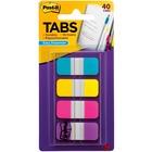 "Post-it® Easy Dispenser Tabs - 40 Tab(s)0.63"" Tab Width - Self-adhesive - Aqua, Pink, Yellow, Violet Tab(s) - 40 / Pack"