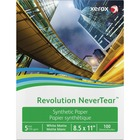 """Xerox Revolution Laser Print Synthetic Paper - Letter - 8 1/2"""" x 11"""" - 135 g/m² Grammage - Matte - 100 / Pack - White"""